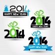 Stock Vector: New year 2014 concepts