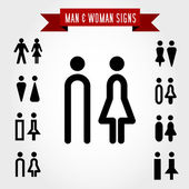 Man and woman signs — Stock Vector