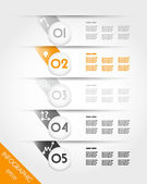 Orange infographic template with grey balls — Stock Vector