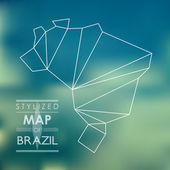Stylized map of Brazil — Wektor stockowy