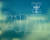 Stylized map of Turkey — Stock Vector