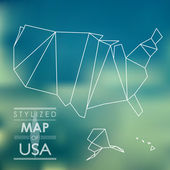 Stylized map of USA — Vettoriale Stock
