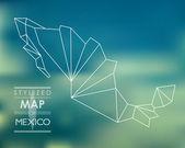 Carte stylisée du Mexique — Vecteur