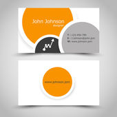 Business card with rings — Vector de stock