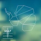 Stylized map of Antarctica — Stock vektor