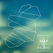 Stylized map of ireland — Stock Vector