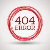 Red 404 error — Stock Vector