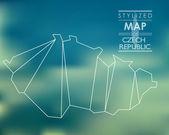 Gestileerde kaart van tsjechië — Stockvector