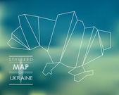 Stylized map of Ukraine — Stock Vector