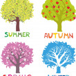 Stock Vector: Four seasons - spring, summer, autumn, winter.