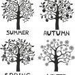 Four seasons - spring, summer, autumn, winter. — Stock Vector #12816655