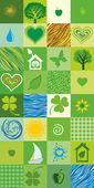 Green seamless pattern. Vector illustration — Stock Vector