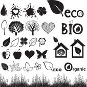 Ecology icon set. — Stock Vector