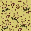 COFFEE. Seamless vector background. — Grafika wektorowa