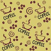 COFFEE. Seamless vector background. — Stock Vector