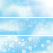 Abstract background sky cloud banners — Stock Vector