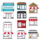 Dizi karikatür mağazaları — Stok Vektör