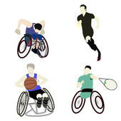 Disabled man sport — Stock Vector