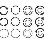 Arrow circle — Stock Vector