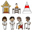 Vector de stock : Illustration of Cute buddhism