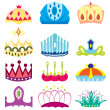 Stock Vector: Set of  royal crown collection
