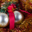 Golden Christmas Balls — Stock Photo #13149976