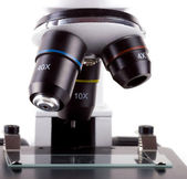 Microscope isolated on white — Stock Photo