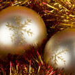 Golden Christmas Balls — Stock Photo #13345263