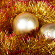 Golden Christmas Balls — Stock Photo