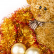 Golden Chrismas balls — Stock Photo