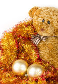 Golden Chrismas balls — Stockfoto