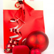 Red christmas presents on white — Stock Photo