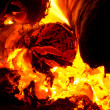 Fire in the furnace — Foto Stock