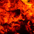 Stock Photo: Coals in furnace