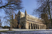 Cathedral and Abbey Church of Saint Alban in St.Albans, UK — Stock Photo