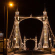 Albert's bridge at night, London — Stock Photo