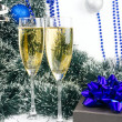 Stock Photo: Christmas champagne
