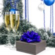 Christmas champagne — Stock Photo #31806005
