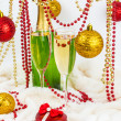 Christmas champagne — Stock Photo #31806007