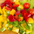 Fresh peppers cuts — Stock Photo