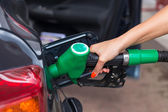 Buying petrol — Stock Photo