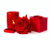 Valentine's composition — Stock Photo
