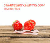 Strawberry chewing gum — Stok fotoğraf