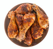 Roasted chicken background — Stock Photo