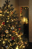 Weihnachtsbaum-szene — Stockfoto