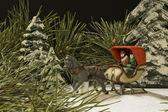 Winter sleigh ride — Stock Photo