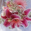 Beautiful pink bridal bouquet — Stock Photo