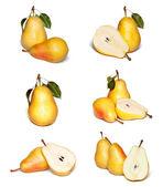 Yellow pear set — Stock Photo