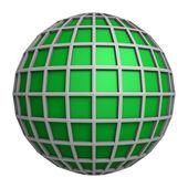 Green globe symbol — Stock Photo