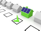 Choice of solar energy — Stock Photo